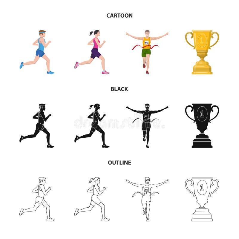 Objet d'isolement de sport et d'ic?ne de gagnant Collection de symbole boursier de sport et de forme physique pour le Web illustration de vecteur