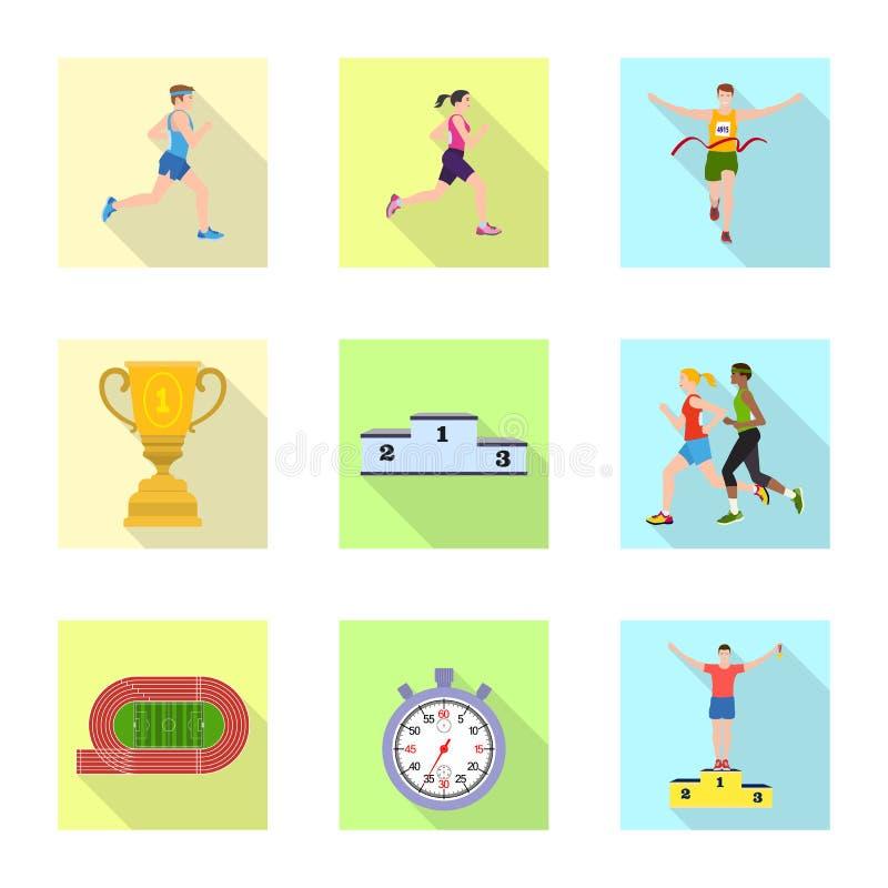 Objet d'isolement de sport et d'ic?ne de gagnant Collection d'ic?ne de vecteur de sport et de forme physique pour des actions illustration stock
