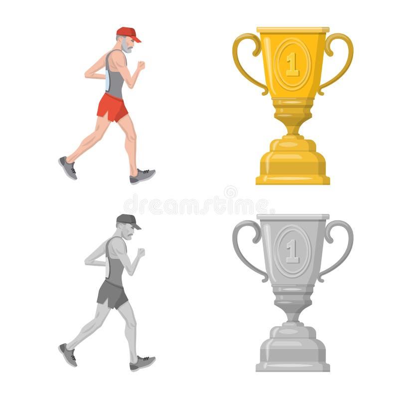 Objet d'isolement de sport et d'ic?ne de gagnant Collection d'ic?ne de vecteur de sport et de forme physique pour des actions illustration de vecteur