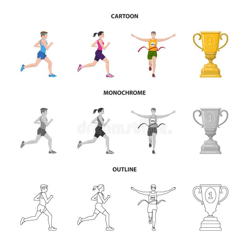 Objet d'isolement de sport et d'ic?ne de gagnant Placez du symbole boursier de sport et de forme physique pour le Web illustration libre de droits