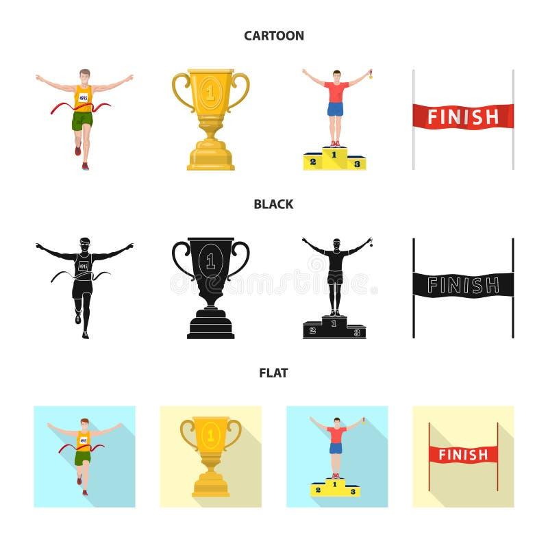 Objet d'isolement de sport et de signe de gagnant Collection d'ic?ne de vecteur de sport et de forme physique pour des actions illustration stock