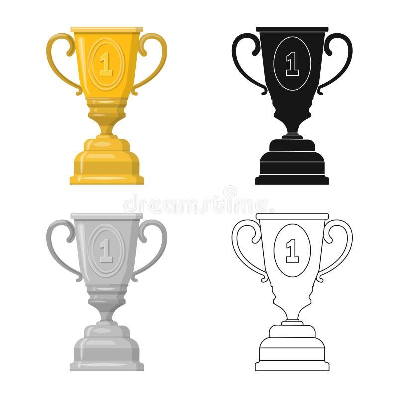 Objet d'isolement de sport et de signe de gagnant Collection de l'illustration courante de vecteur de sport et de forme physique illustration stock
