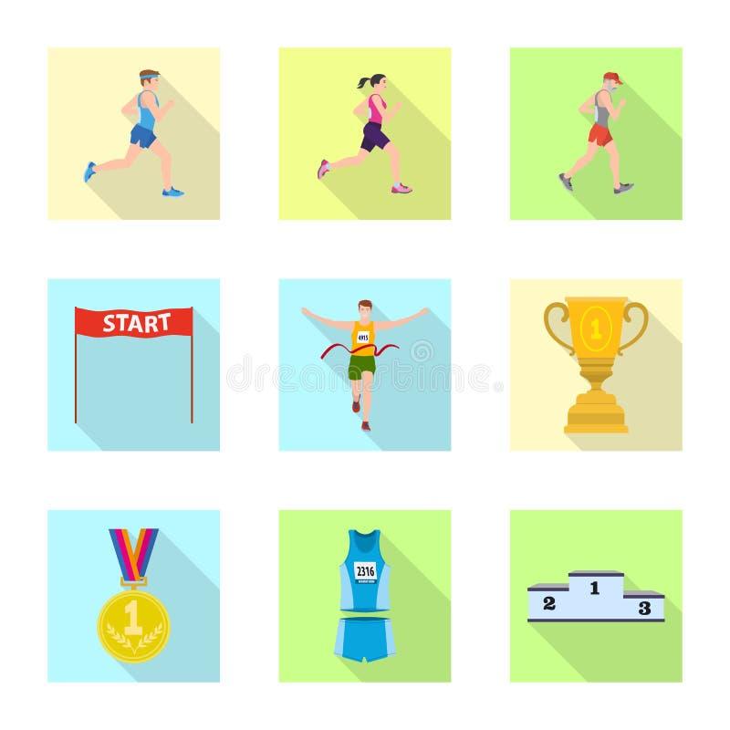 Objet d'isolement de sport et de symbole de gagnant Collection de symbole boursier de sport et de forme physique pour le Web illustration de vecteur