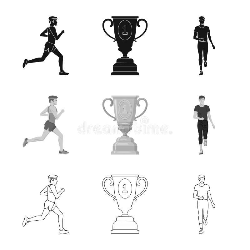 Objet d'isolement de sport et de symbole de gagnant Collection d'ic?ne de vecteur de sport et de forme physique pour des actions illustration libre de droits