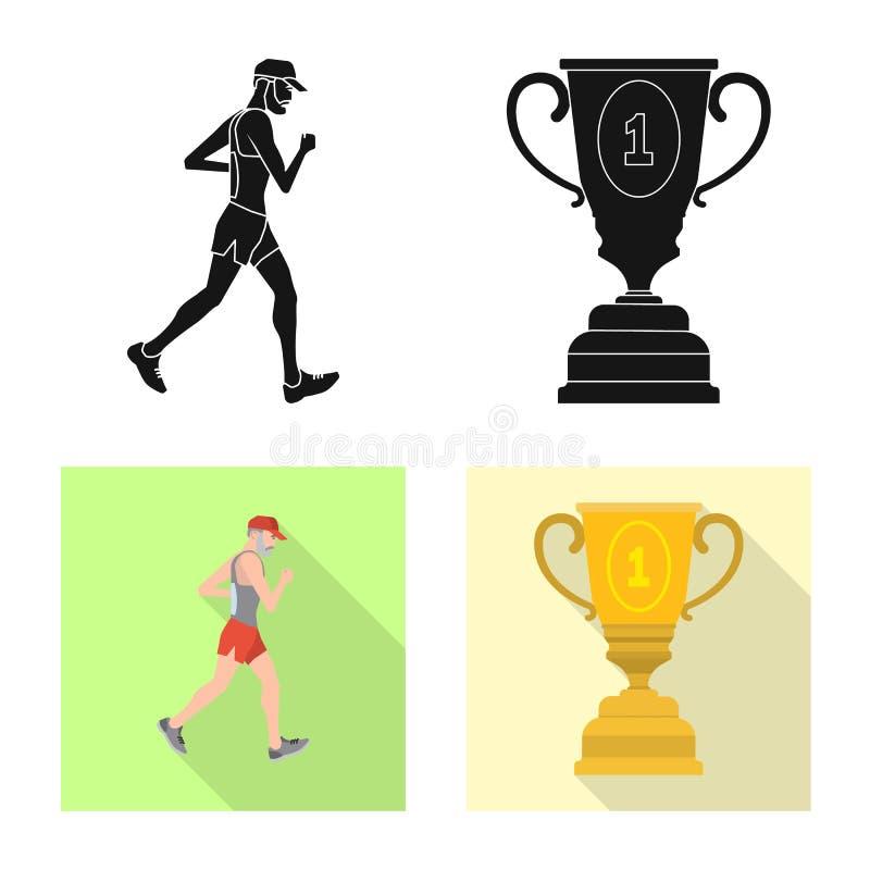 Objet d'isolement de sport et de symbole de gagnant Collection d'ic?ne de vecteur de sport et de forme physique pour des actions illustration de vecteur