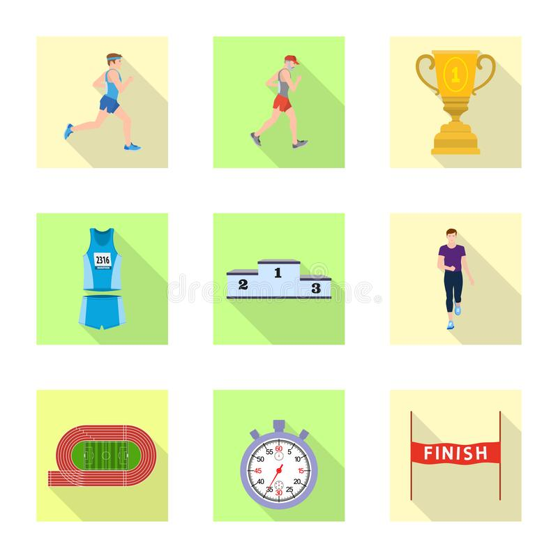 Objet d'isolement de sport et de symbole de gagnant Collection de l'illustration courante de vecteur de sport et de forme physiqu illustration libre de droits