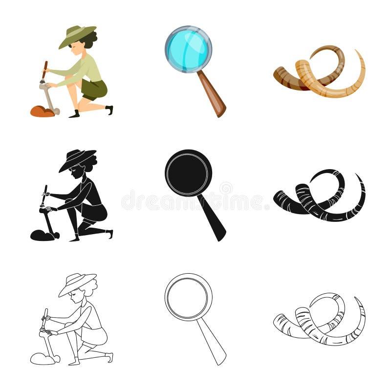 Objet d'isolement de symbole d'histoire et d'articles Collection d'ic?ne d'histoire et de vecteur d'attributs pour des actions illustration stock