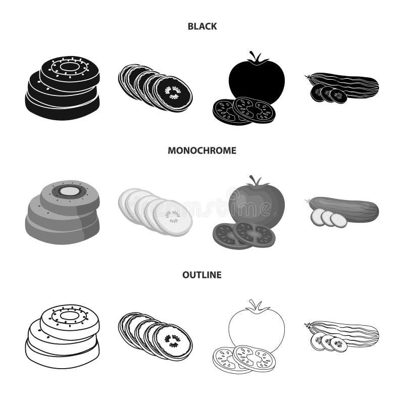 Objet d'isolement de symbole de l?gume et de fruit Collection de symbole boursier de l?gume et de nourriture pour le Web illustration de vecteur