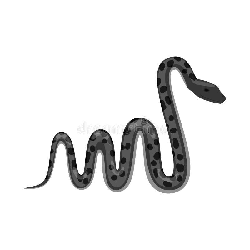 Objet d'isolement de symbole de mal et de morsure Collection de mal et icône de vecteur de reptile pour des actions illustration de vecteur