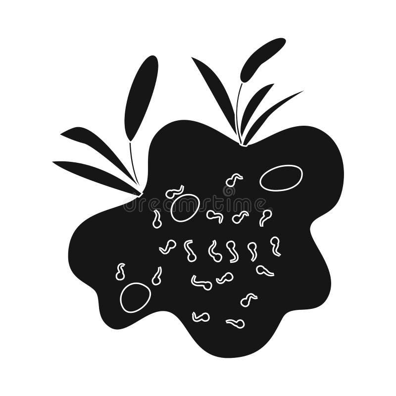 Objet d'isolement de symbole de marais et d'environnement Placez du symbole boursier de marais et d'aqua pour le Web illustration de vecteur