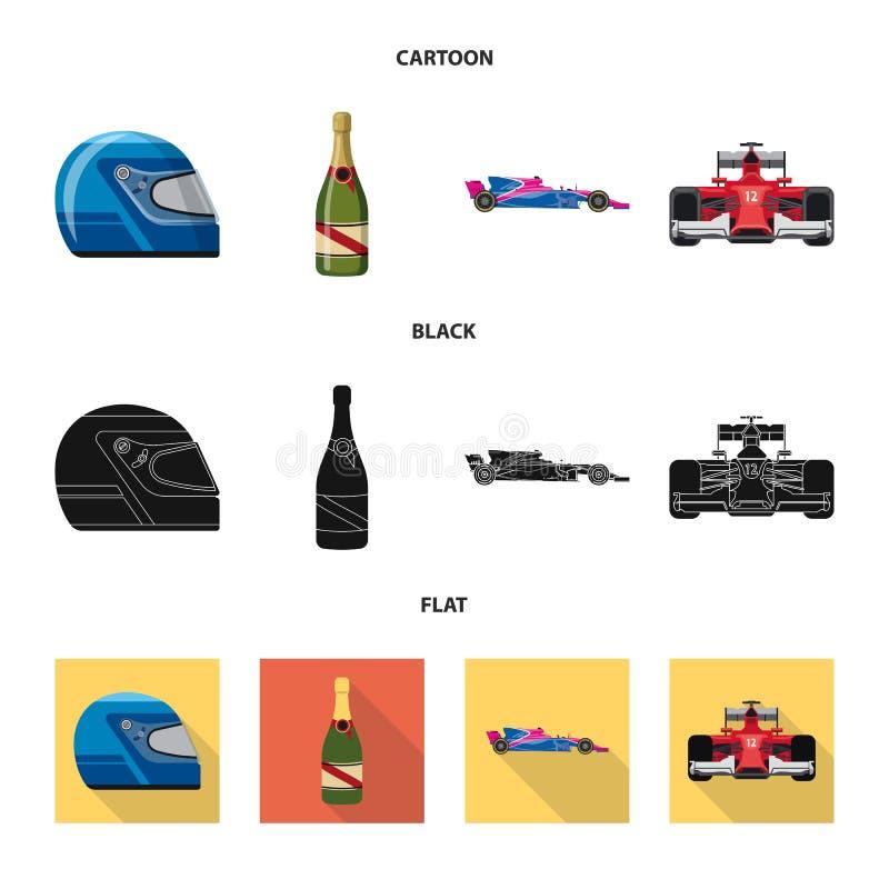 Objet d'isolement de voiture et de signe de rassemblement Collection de symbole boursier de voiture et de course pour le Web illustration de vecteur