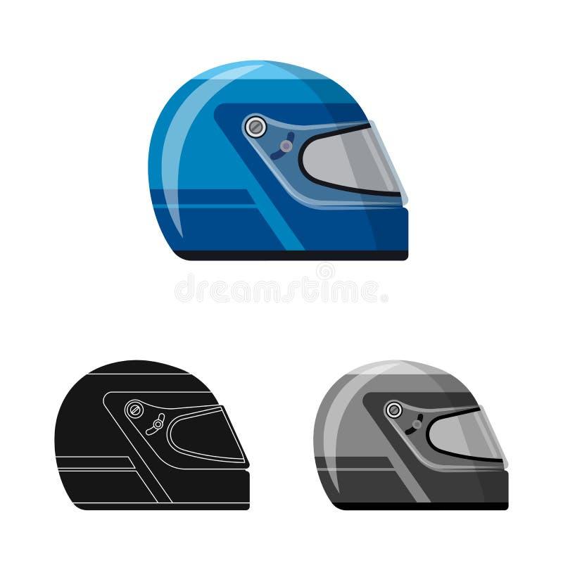 Objet d'isolement de voiture et de symbole de rassemblement Ensemble d'illustration courante de vecteur de voiture et de course illustration stock