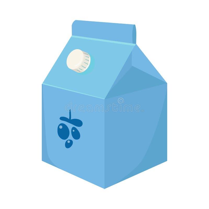 Objet d'isolement de yaourt et de signe de empaquetage Placez de l'icône de vecteur de yaourt et de lait pour des actions illustration stock
