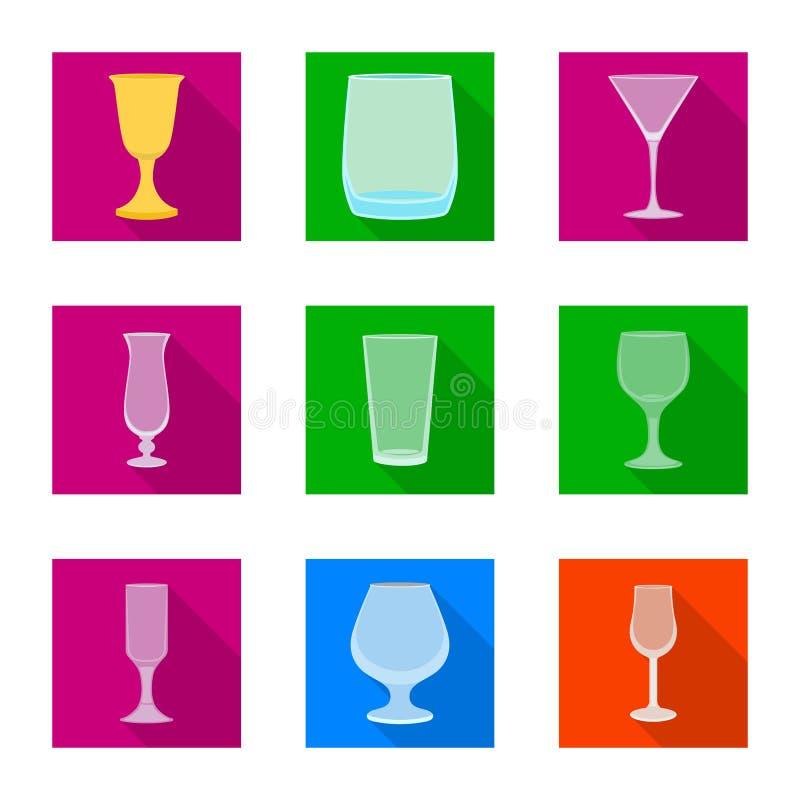 Objet d'isolement des boissons et de l'ic?ne de restaurant Collection des boissons et de l'illustration de vecteur d'actions de c illustration libre de droits