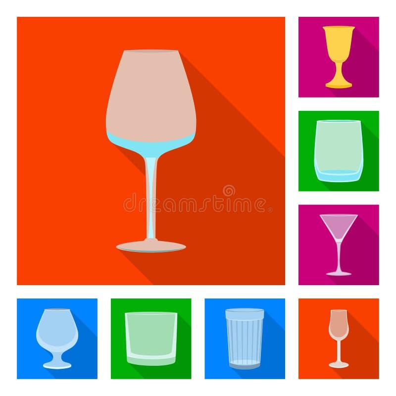 Objet d'isolement des boissons et du logo de restaurant Placez des boissons et de l'ic?ne de vecteur de c?l?bration pour des acti illustration de vecteur