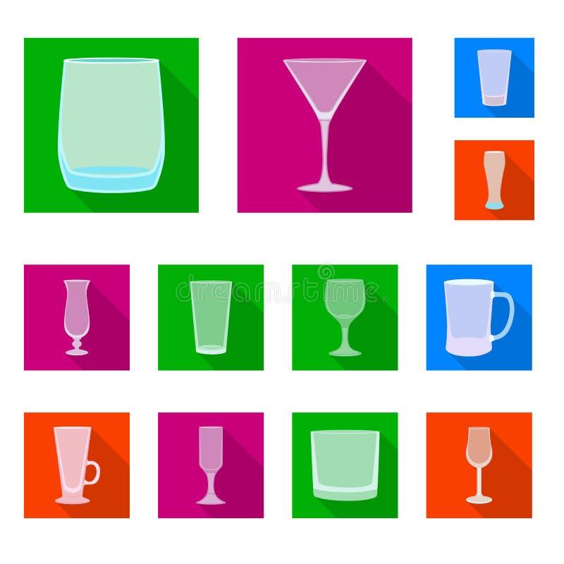 Objet d'isolement des boissons et du symbole de restaurant Collection de boissons et ic?ne de vecteur de c?l?bration pour des act illustration libre de droits