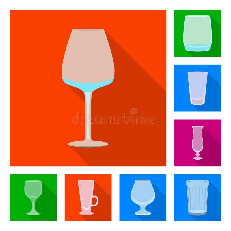 Objet d'isolement des boissons et du symbole de restaurant Placez des boissons et de l'illustration de vecteur d'actions de c?l?b illustration libre de droits