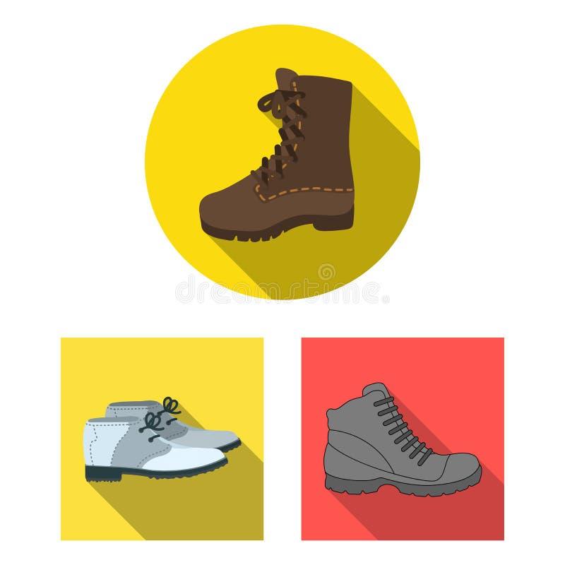 Objet d'isolement du signe en cuir et occasionnel Collection de l'icône en cuir et formelle de vecteur pour des actions illustration de vecteur