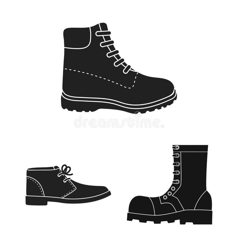 Objet d'isolement du symbole en cuir et occasionnel Collection du symbole boursier en cuir et formel pour le Web illustration stock