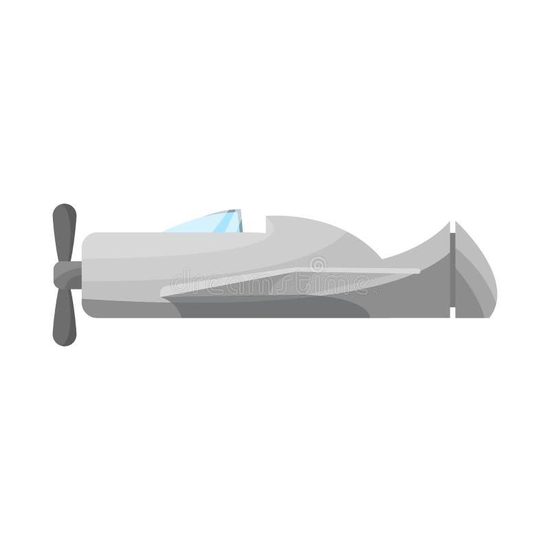 Objet d'isolement d'icône d'avion et d'espace Collection de symbole d'avion et de stock privé pour le Web illustration de vecteur