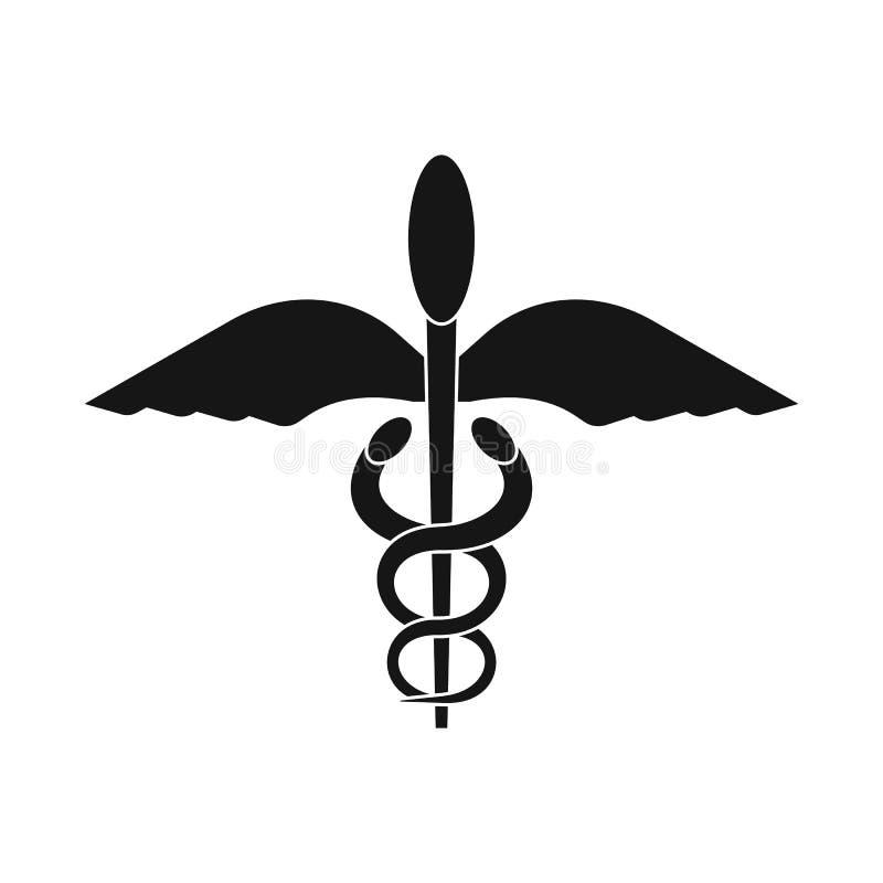 Objet d'isolement d'icône envolé et de tige La collection d'à ailes et des ailes dirigent l'icône pour des actions illustration libre de droits