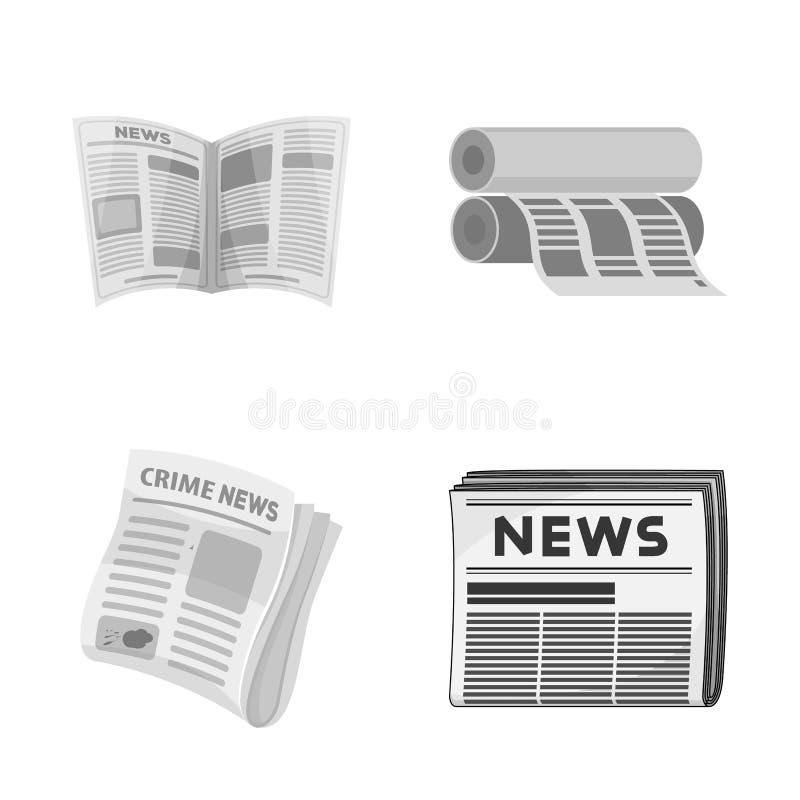 Objet d'isolement d'icône quotidienne et pliée Placez de l'icône quotidienne et de papier de vecteur pour des actions illustration libre de droits