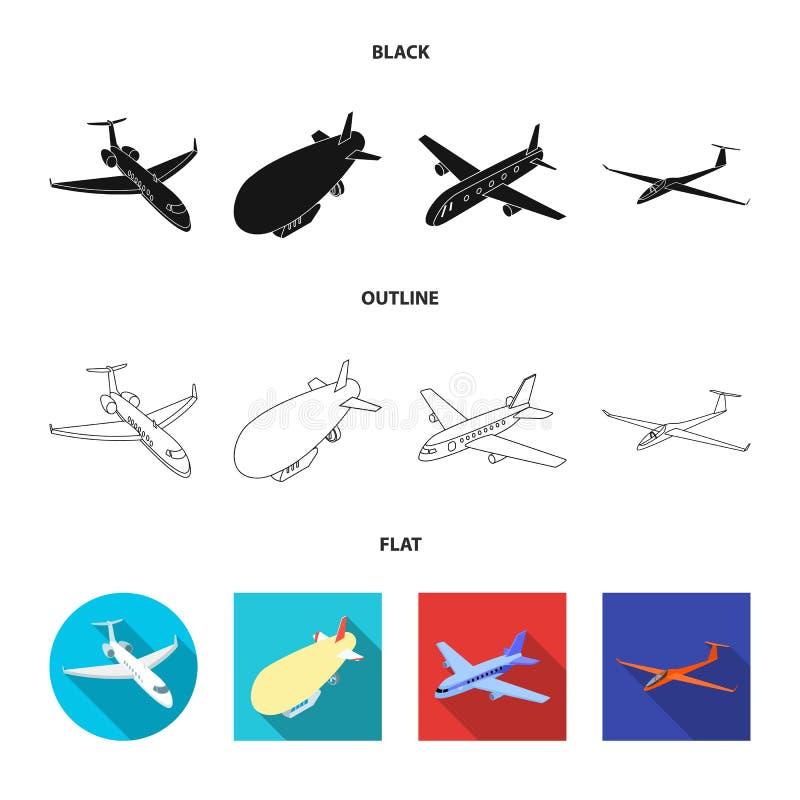 Objet d'isolement d'ic?ne de transport et d'objet Collection de transport et de symbole boursier de glissement pour le Web illustration stock