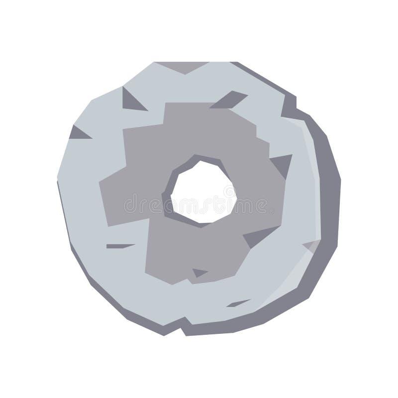 Objet d'isolement première par invention de roue d'âge de pierre illustration libre de droits