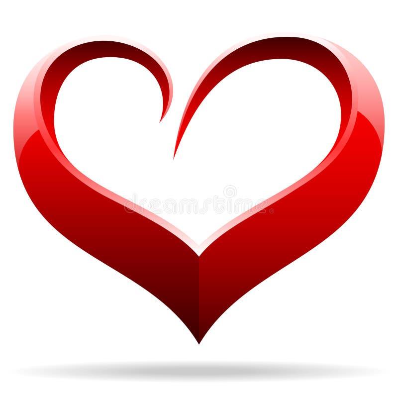 Objet de forme de coeur illustration de vecteur