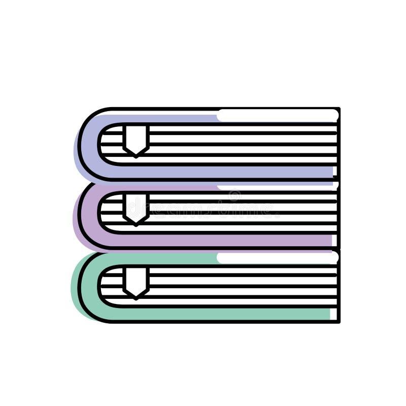 Objet de livres à la littérature de la connaissance d'éducation illustration stock
