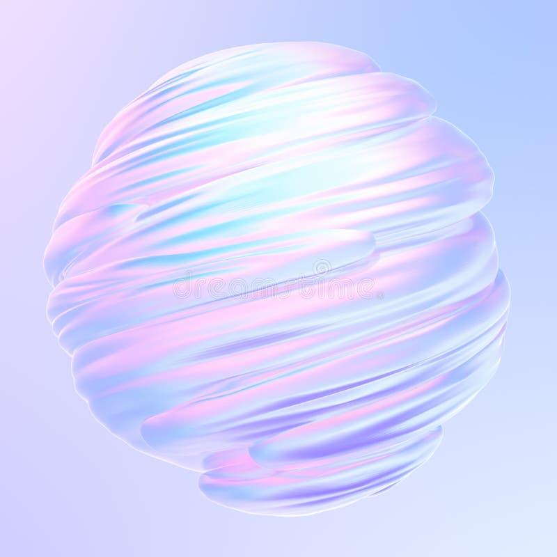 Objet de texture holographique 3D à torsion liquide illustration libre de droits