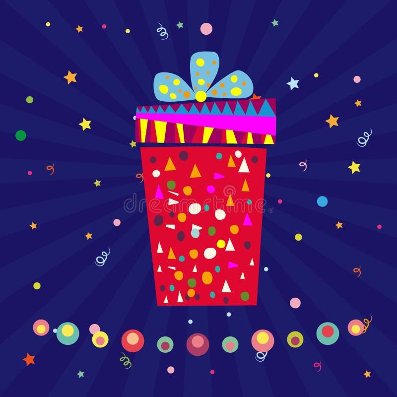 Objet de vecteur de boîte-cadeau illustration de vecteur