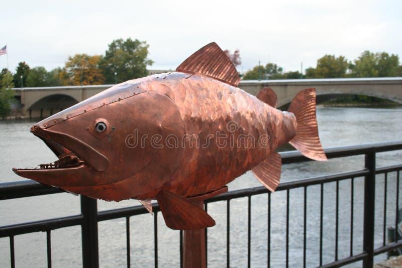 Objet exposé d'art d'un poisson géant photographie stock libre de droits