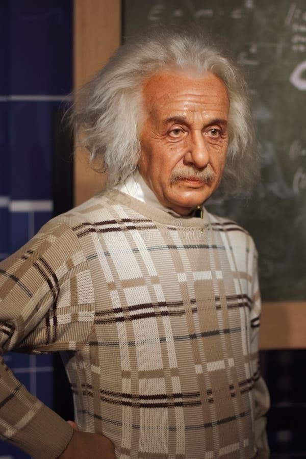 Objet exposé de figure de cire d'Albert Einstein photo stock