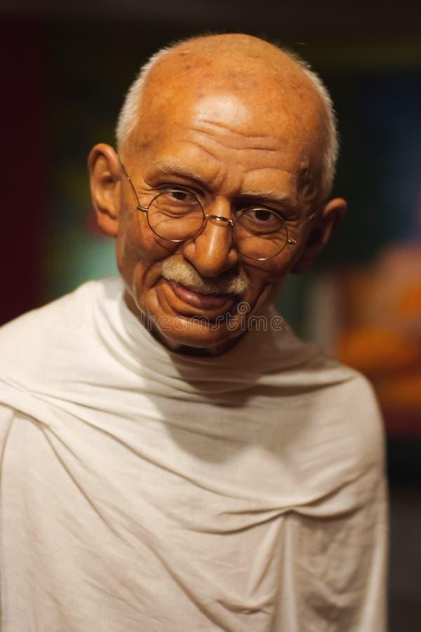 Objet exposé de figure de cire de Mahatma Gandhi photographie stock libre de droits