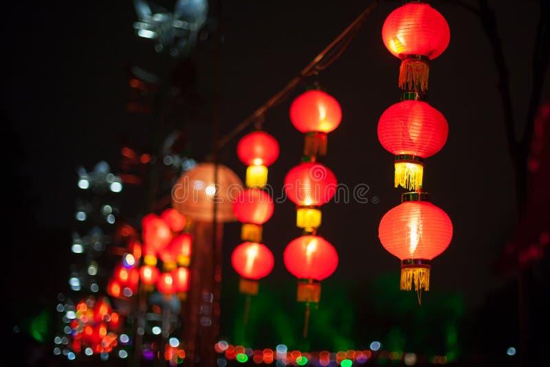 Objet exposé des lanternes pendant le festival de lanterne photos libres de droits