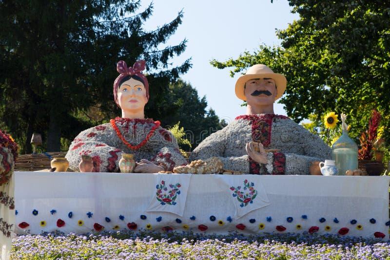 Objet exposé floral en parc photographie stock libre de droits