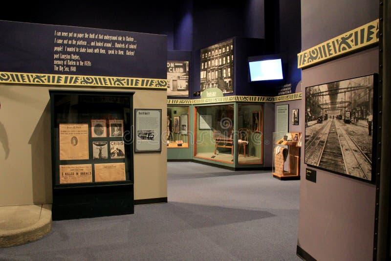 Objet exposé instructif sur Harlem pendant les années 20, musée de l'état de New-York, Albany, New York, 2015 photos stock