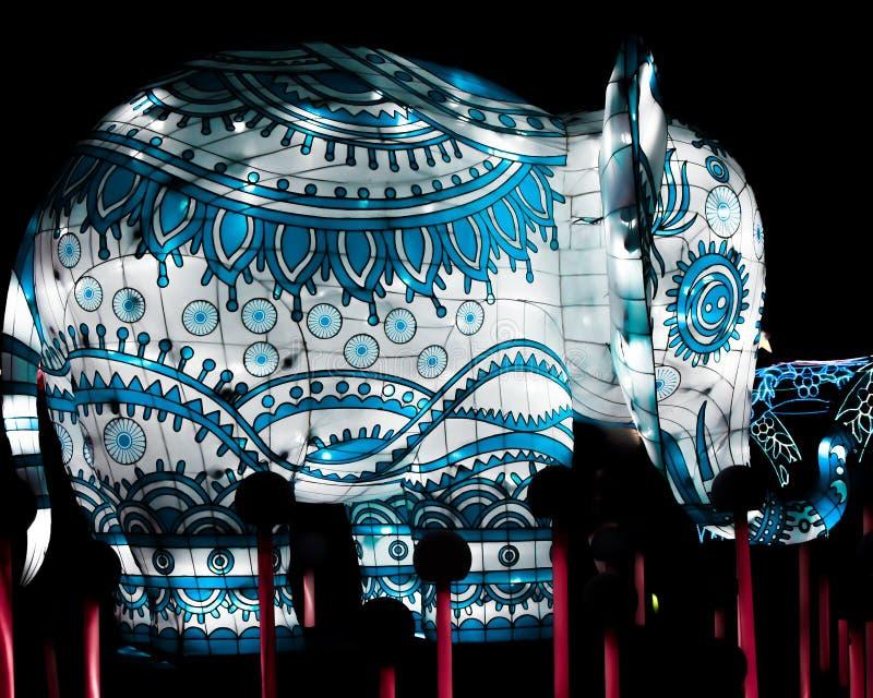 Objet superflu bleu et - lumières de la Chine photographie stock