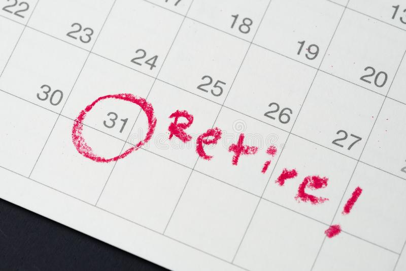 Objetivo da aposentadoria ou liberdade financeira, planejando para o sucesso salar fotografia de stock royalty free