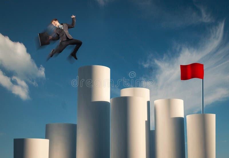 Objetivo da bandeira vermelha fotografia de stock royalty free