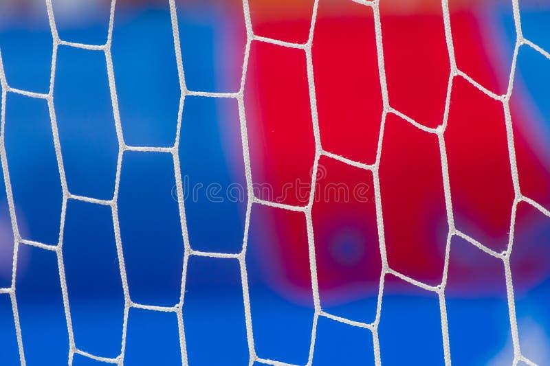 Objetivo da grade para o jogo do futebol da praia Futebol da praia fotos de stock royalty free