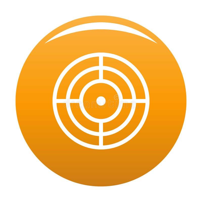 Objetivo de la naranja del vector del icono de la blanco stock de ilustración