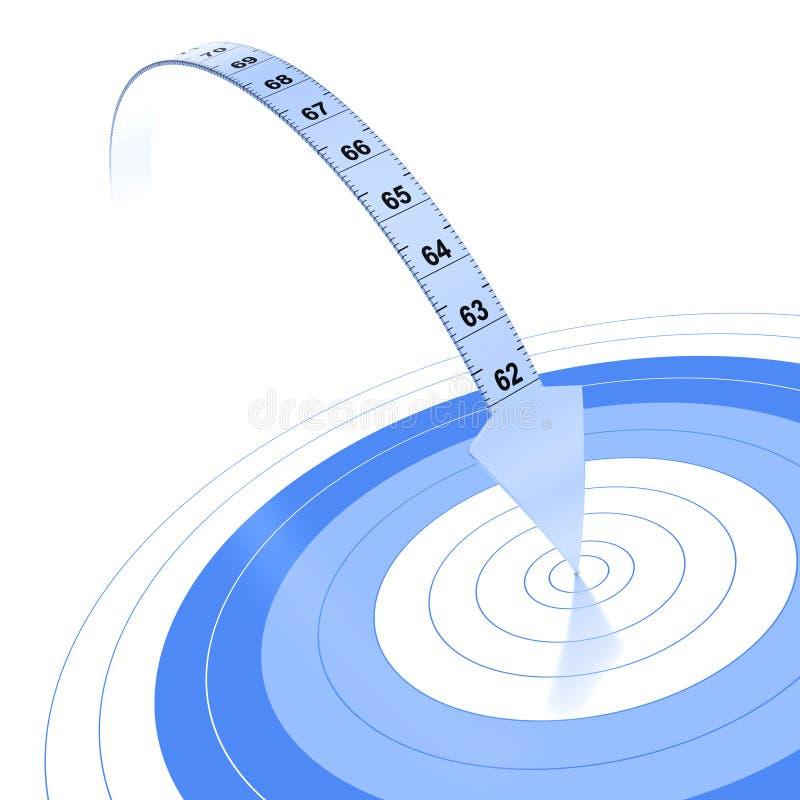 Objetivo de la pérdida de peso, dieta ilustración del vector