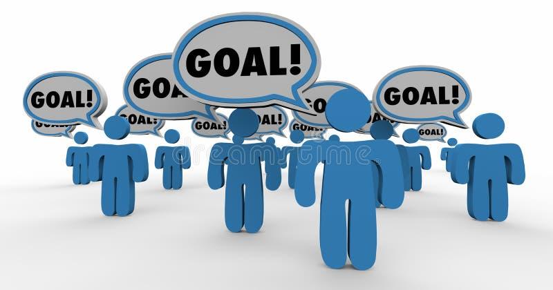 Objetivo de missão compartilhado objetivo Team People Working Together ilustração do vetor