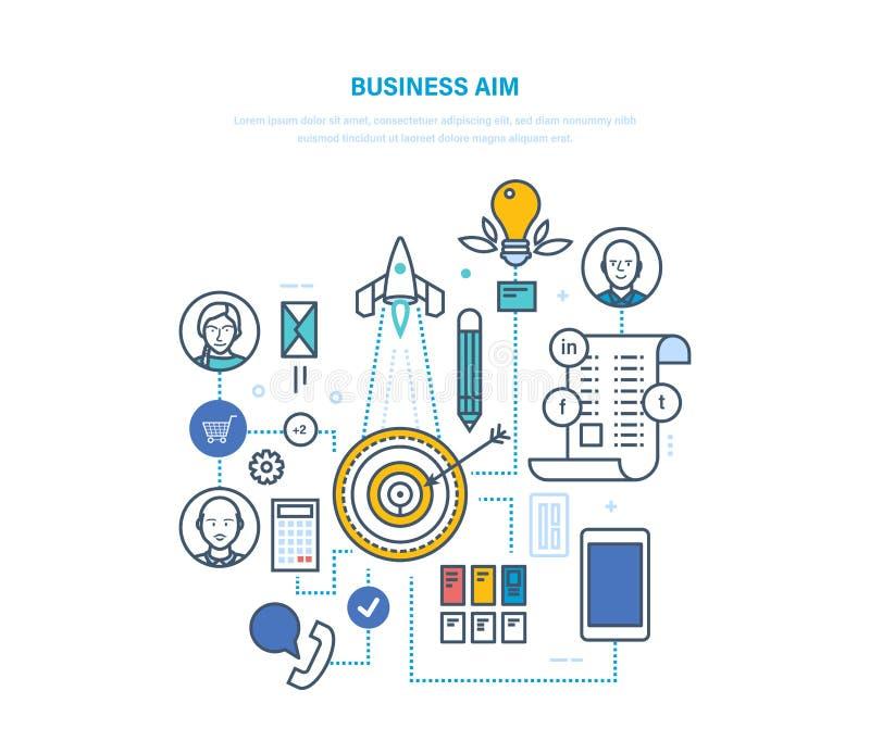 Objetivo de negocio Metas y su logro, planificación de empresas, estrategia del ajuste libre illustration