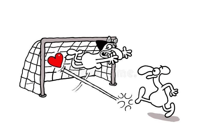 Objetivo do amor ilustração stock