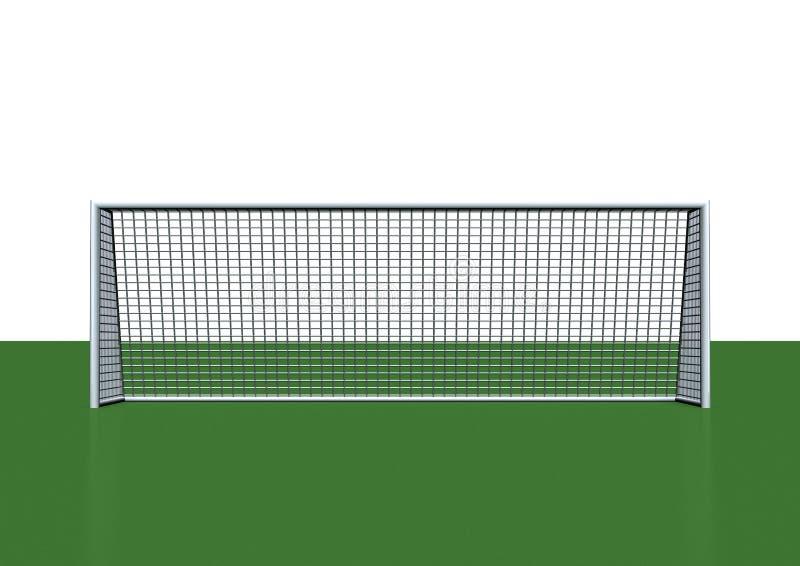 Objetivo do futebol ilustração stock