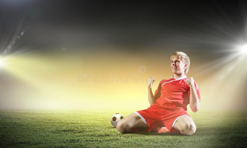 Objetivo do futebol foto de stock royalty free