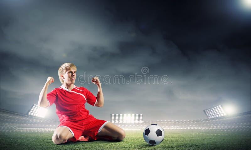Objetivo do futebol fotografia de stock royalty free